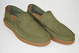 Мокасины зеленые Kadar 3450722 нубук