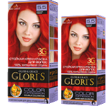 Краска для волос 5.5 красная рябина Glori's 50мл