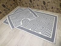 Набор ковриков для ванной и туалета. Хлопок. (Турция) 60Х100. 60100-13