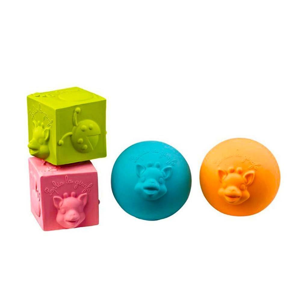 Развивающая каучуковая игрушка-прорезыватель (Кубики и шары), Sophie la girafe (Vulli)
