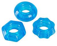 Эрекционные кольца Stretchy Cock Ring Set, 3 шт., фото 1
