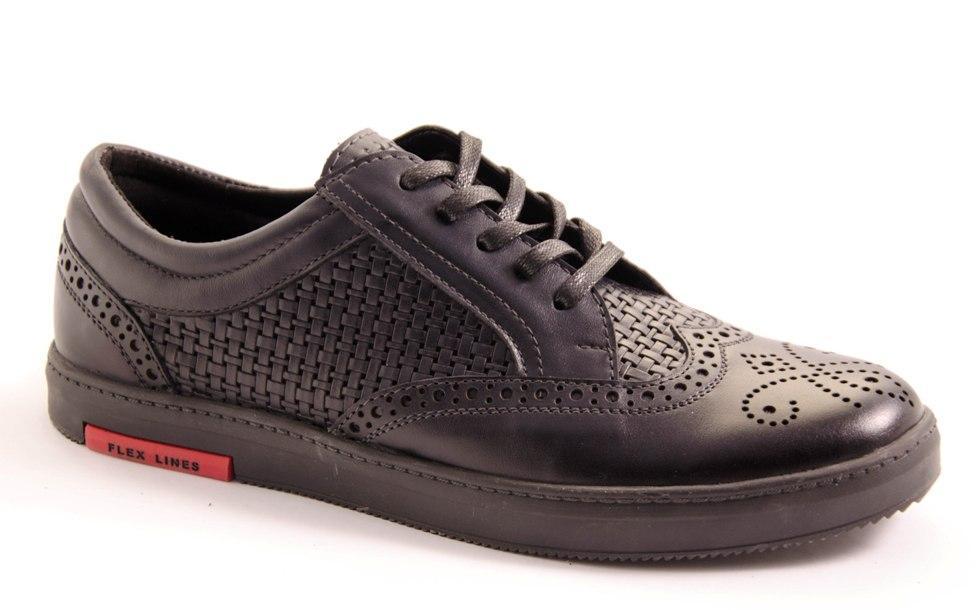 Туфли мужские черные Vortex 8034