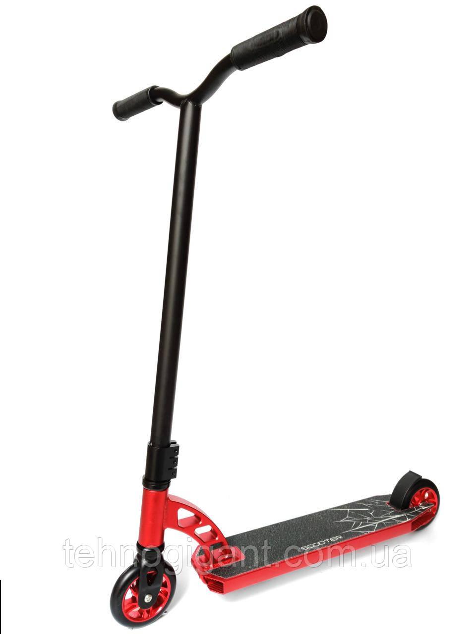 Трюковый Самокат отScooter–Aluminium Highest Profi 005P 110 мм Красный , колеса литые алюминий /полиуретан