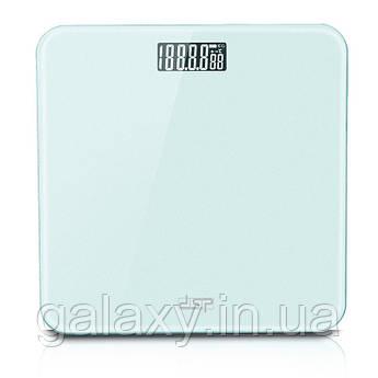 Весы напольные стеклянные бирюзовые DSP KD-7001 мятные
