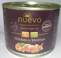 Консерва для кошек Nuevo (Нуэво) с курицей и креветками, 200 г