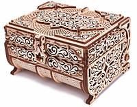 Деревянный 3D конструктор «Шкатулка, декорированная кристаллами Swarovski» Wood Trick