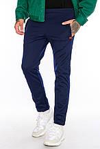 Мужские спортивные брюки на флисе М 102 черные