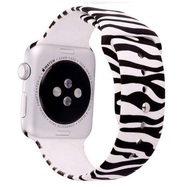 Ремешок ZEBRA Sport Band for Apple Watch 38/40mm Black White (AL5180)