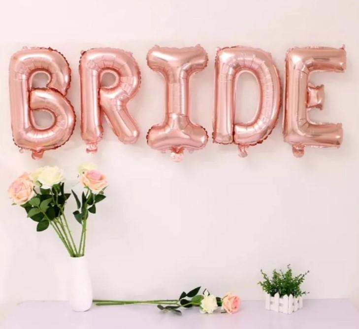 Набор надувных фольгированных шаров BRIDE  38 см