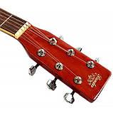 Набор акустическая гитара Bandes AG-831C ST 38+ чехол+каподастр, фото 4