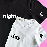 Парные футболки Day - Night