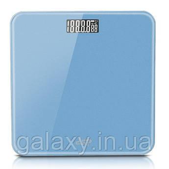 Весы напольные  стеклянные DSP KD-7001 голубые