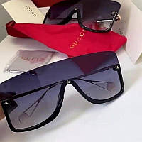 Женские солнцезащитные очки маска Gucci реплика фиолетовые