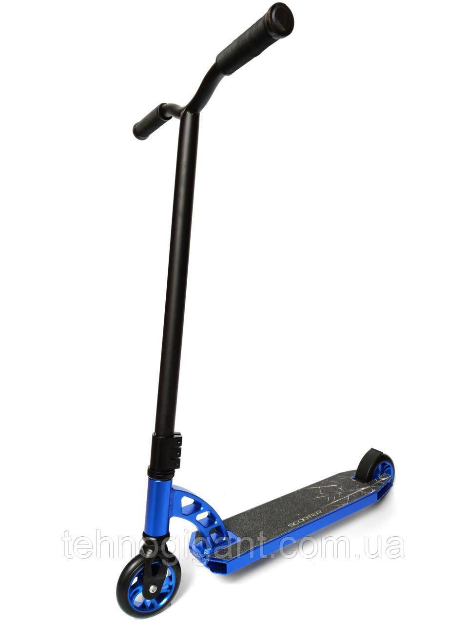 Трюковый Самокат отScooter–Aluminium Highest Profi 005P 110 мм Синий , колеса литые алюминий /полиуретан