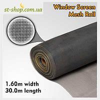 Сетка антимоскитная в рулоне 1.6*30м (48 м² в рулоне)