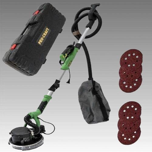 Машина шлифовальная PROCRAFT EX-1050 для стен и потолка (всторенный пылесос, подсветка рабочей зоны)