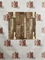 Декоративна 3Д панель самоклейка для стін 70*70 см 6 мм дерево NNDesign