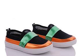 Сліпони кросівки, кеди для дівчинки літні сітка чорні Fashion розміри 28,30,31,33