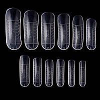 Верхние формы для наращивания ногтей многоразовые, 12 шт.
