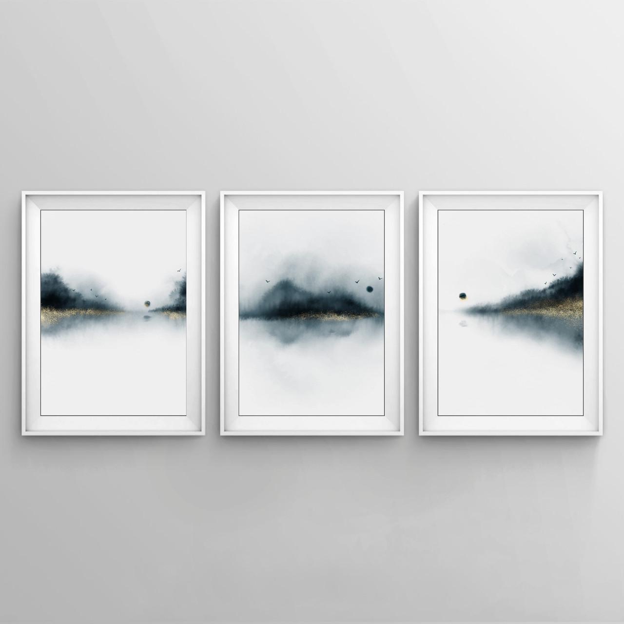 Набор плакатов Abstract landscape формат А3