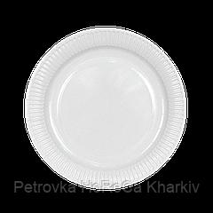 Тарелка картонная Белая ХТ18 100шт/уп