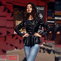 Куртка женская со съемной баской - Черный