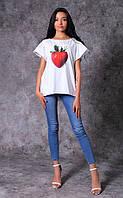 Женская футболка из трикотажа Poliit 3012-12