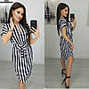 Короткое женское платье под пояс 46-48, 48-50, 50-52, фото 4