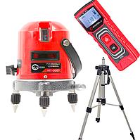 Комплект Лазерный уровень INTERTOOLMT-3009+лазерная рулетка (дальномер) NTERTOOL MT-3072+ Штатив для