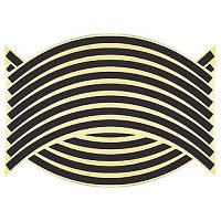 Светоотражающие полосы на диск колеса черные, фото 1