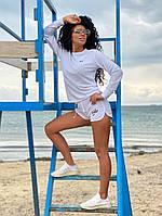 Женский спортивный костюм из двунити короткие шорты и свитшот 42-44, 44-46