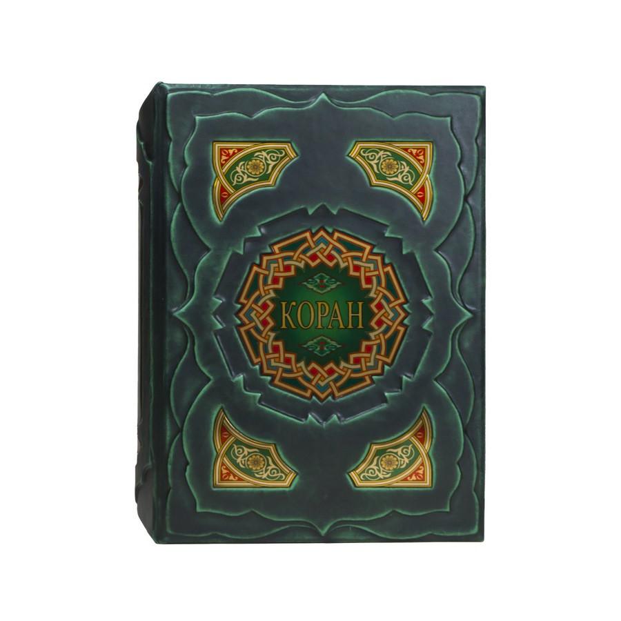 Коран з перекладом смислів і коментарями в шкіряній палітурці і подарунковому коробі