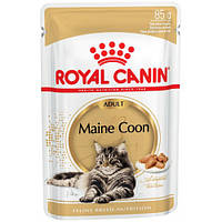 АКЦИЯ! Влажный корм Royal Canin Maine Coon Adult для кошек 0.085 8+4шт.