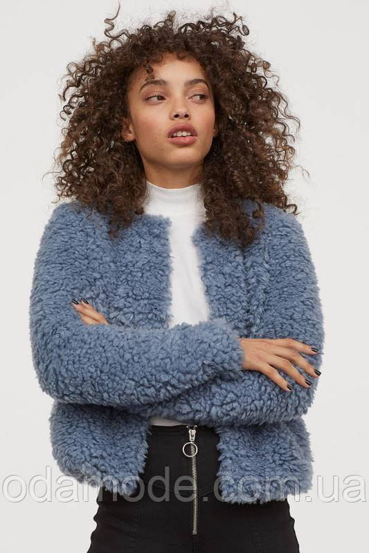 Женская куртка-пиджак H&M голубая