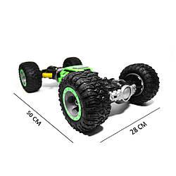 Машинка перевертыш Hyper Actives stunt 2168 50 см (вездеход на радиоуправлении) зелёная