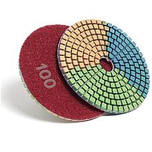 Алмазный гибкий шлифовальный круг ЧЕРЕПАШКА, АГШК зернистость 100, d 100мм