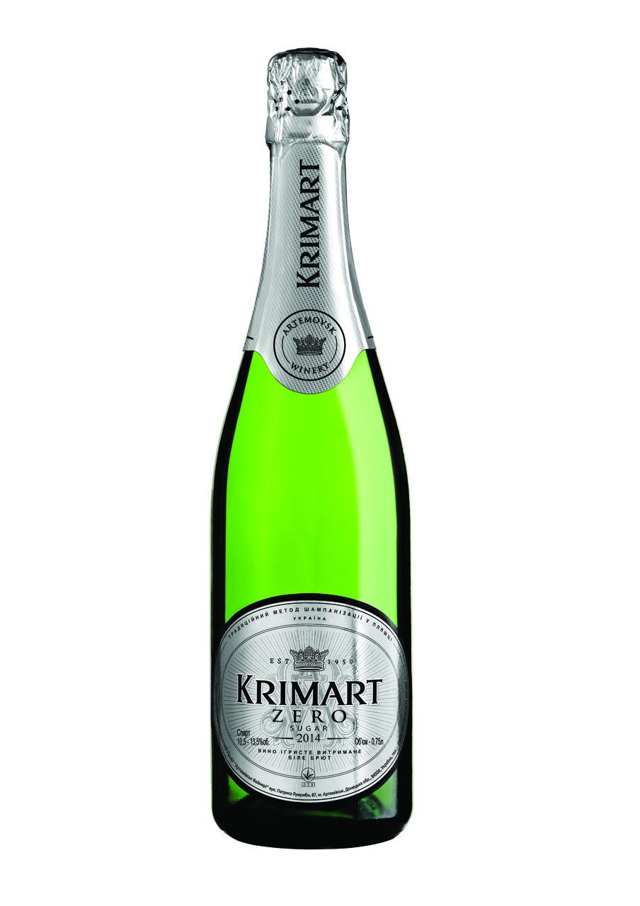 KRIMART біле брют зеро вино ігристе