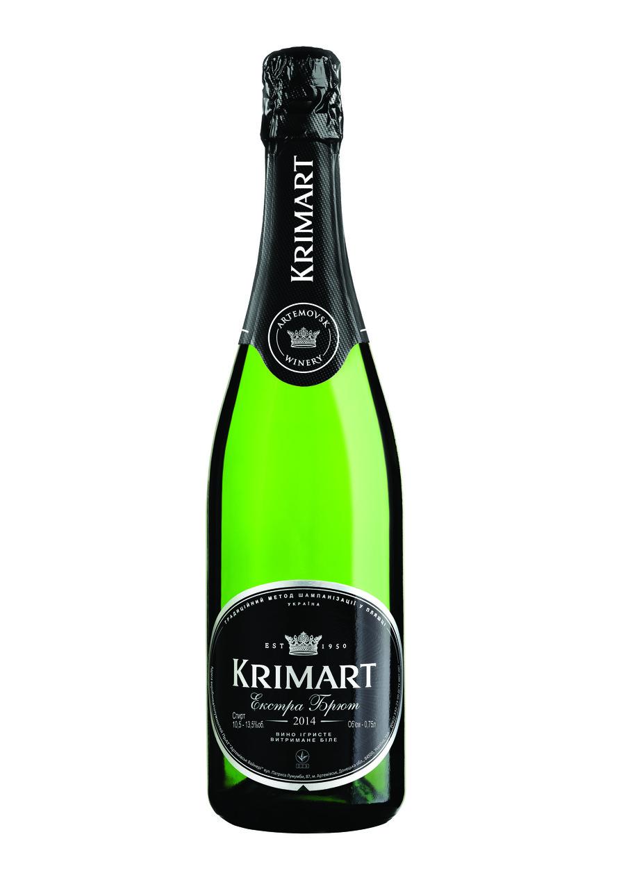 KRIMART біле екстра-брют вино ігристе