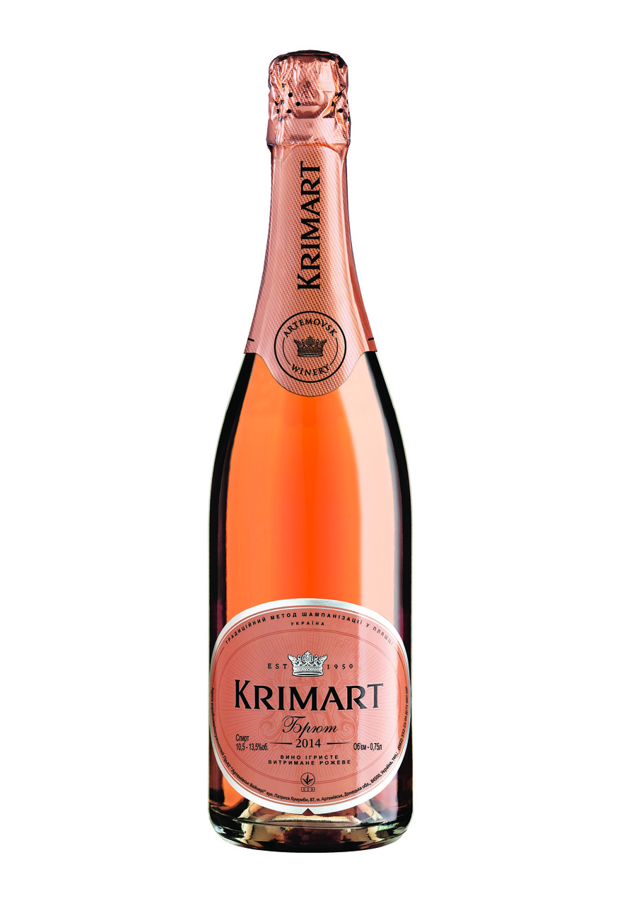 KRIMART рожеве брют вино ігристе