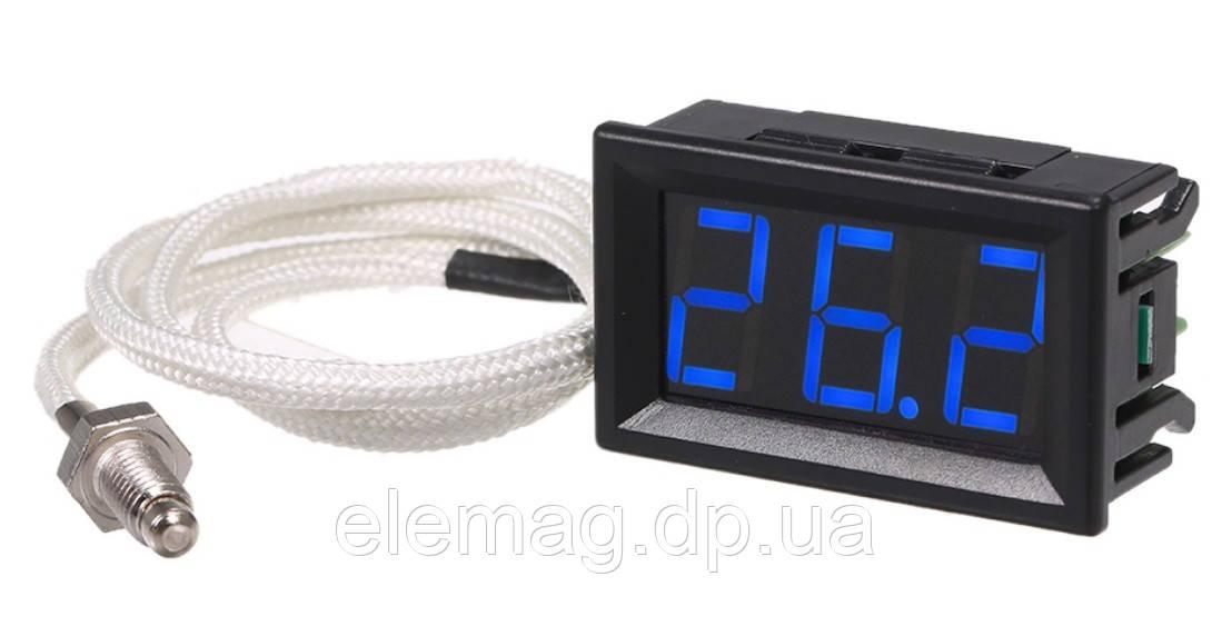 Термометр XH-B310 вбудований цифровий 12 V -30 ~ 800 °С з термопарою К-типу синій