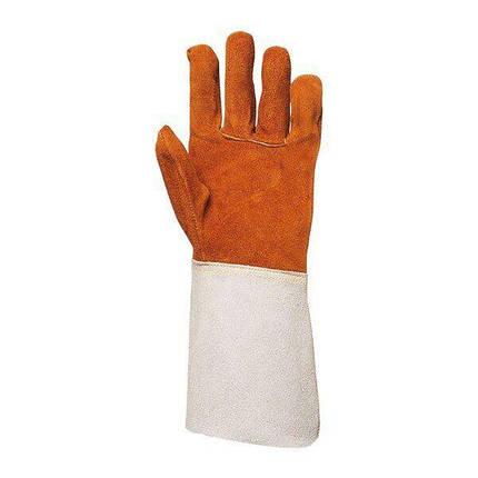 Перчатки рабочие с крагой спилковые, фото 2