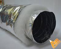"""Гибкий изолированный воздуховод d 180мм (7"""")  (7,6м/п в упак)"""