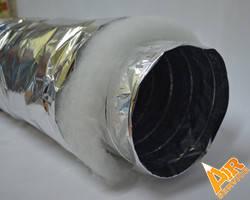 """Гибкий изолированный воздуховод d 317мм (12,5"""")  (7,6м/п в упак), фото 2"""
