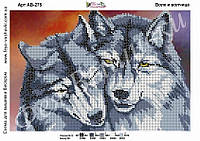 """Схема для вышивки бисером  Волк и волчица"""""""