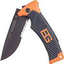 Туристический карманный складной нож с чехлом Gerber Bear (18,6 см) (Реплика), фото 3
