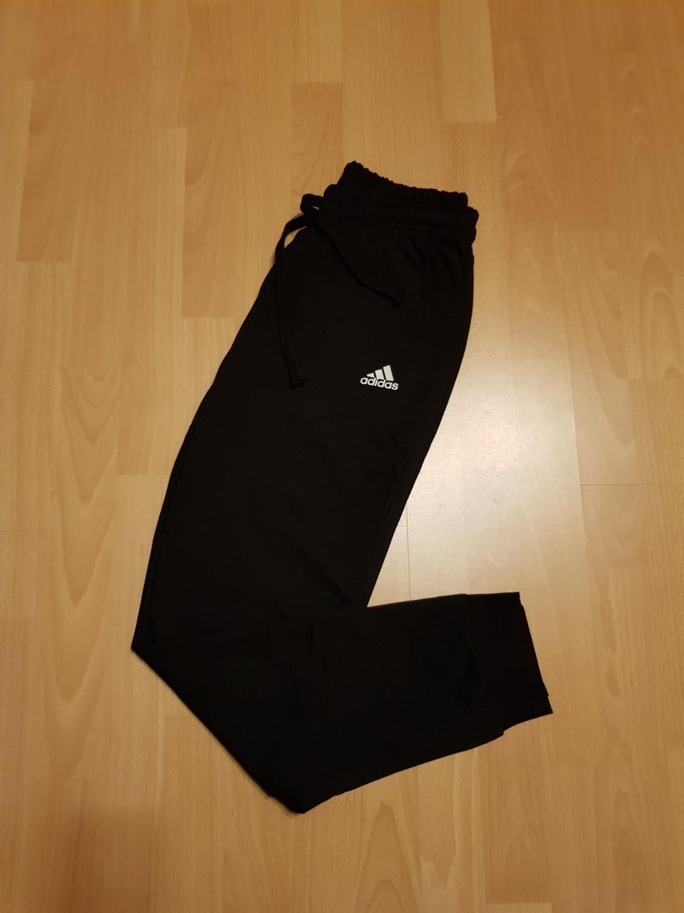 Мужские спортивные штаны Adidas зауженные к низу с манжетами  L