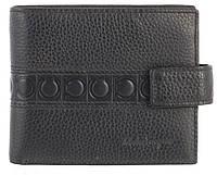 Вместительный стильный кожаный мужское портмоне из мягкой кожи Salvatore Ferragamoart. SF81-1077A черный, фото 1