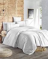 Комплект постельного белья First Choice Ranforce Deluxe Gala Beyaz бавовна 220-200 см белый