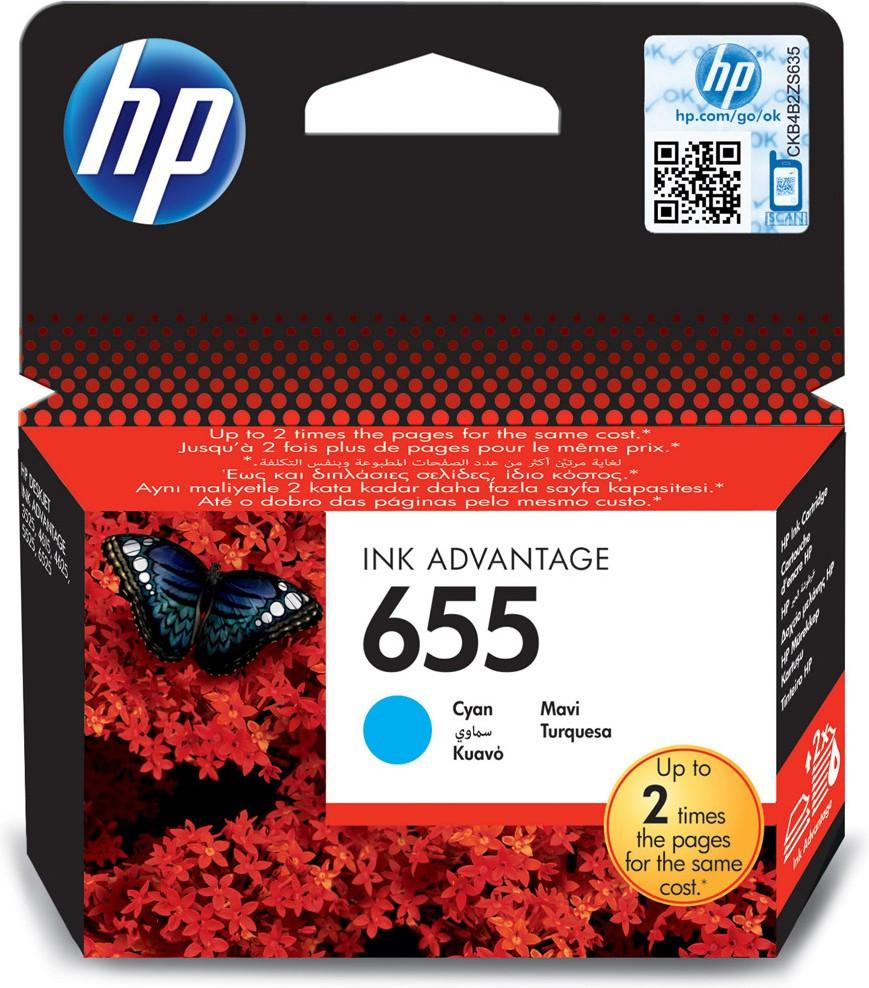 Картридж HP 655 DeskJet 4615/4625/3525/5525 Cyan 600 страниц