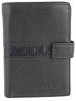 Вместительный стильный кожаный мужское портмоне бумажник из мягкой кожи Salvatore Ferragamoart. SF81-936A черн, фото 1